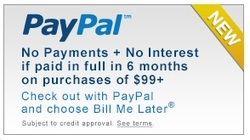 Financing Available with PayPal Bill Me Later