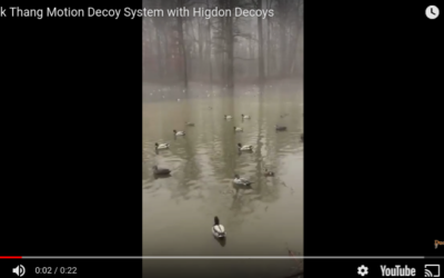 Duck Thang Motion Decoy System with Higdon Decoys